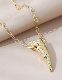 Fashion Gold Color Horn Geometric Alloy Necklace