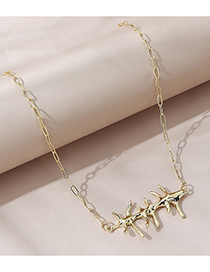 Fashion Gold Color Branch Geometry Word Alloy Necklace
