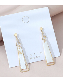 Fashion Golden Real Gold Plated Geometric Long Tassel Earrings