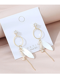 Fashion 14k Gold Real Gold-plated Letter Geometric Diamond Earrings