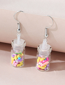 Fashion Color Mixing Wishing Bottle Alloy Earrings