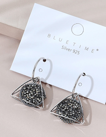 Fashion Silver Real Gold Plated Earrings