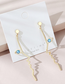Fashion Golden Real Gold Plated Earrings
