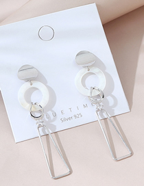 Fashion Platinum Real Gold Plated Geometric Earrings