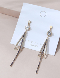 Fashion K Gold Real Gold Plated Geometric Earrings