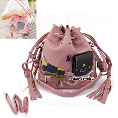 Fashion Green+pink Serpentine Pattern Decorated Mini Shoulder Bag