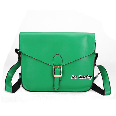 Fashion Green Rivet Decorated Bag