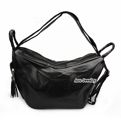 Trendy Dark Brown Pure Color Simple Design  Pu Messenger bags