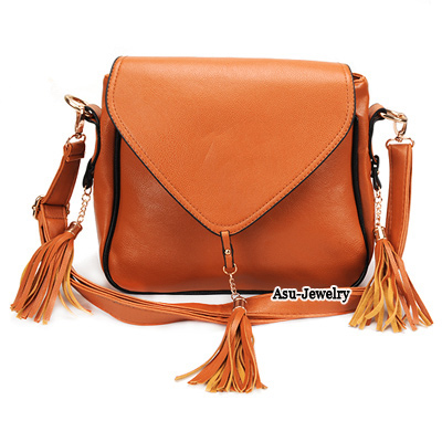 Fashion Pink Buckle Shape Deacorated Pure Color Simple Shoulder Bag