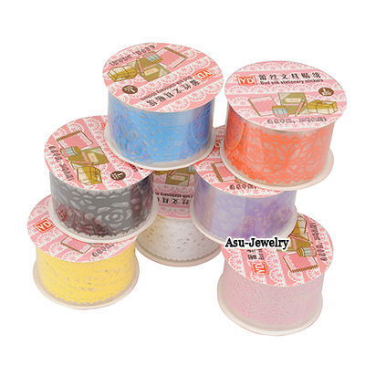 Arrowhead Color Will Be Random Round Shape Lace Design Paper Stickers Tape