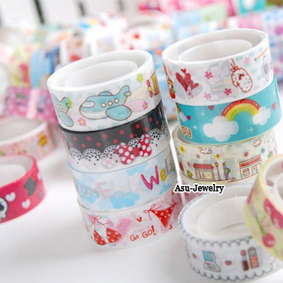 Celtic Color will be random Cartoon Color Design Plastic Stickers Tape