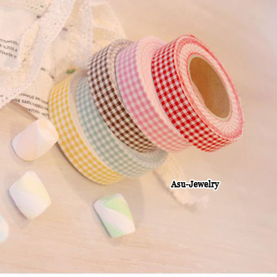 Smart Color will be random Sweet Candy Color Design Cloth Stickers Tape