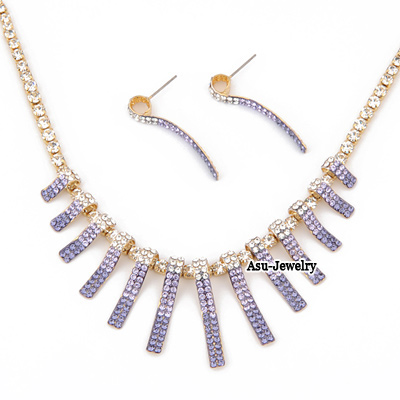 Ferret Purple Tassels  Design 18K alloy Jewelry Sets