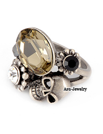 Diaper Bronze Skull Head Alloy Fashion Rings