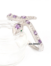 Afrocentri Purple Snake 18K alloy Fashion Bangles