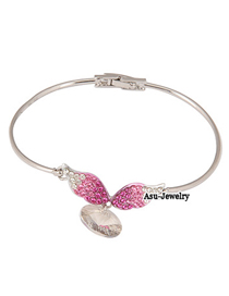 Sheer Plum Red Angel Wings 18K alloy Fashion Bangles
