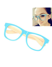Fashion Black Round Shape Decorated Glasses