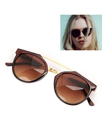 Fashion Red Heart Shape Decorated Simple Sunglasses
