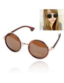 Fashion Pink Square Shape Decorated Sunglasses
