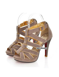 Peridot Red Thin Ribbon Interlacing Design PU Sandals