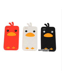 Lace Color will be random Chicken Shape Design Silicon Iphone 4 4s
