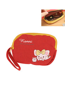 Fashion Red Color Matching Decorated Lip Shape Design Wallet