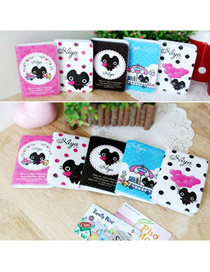 Cocktail Color will be random Fashion Cartoon Black Cat Pattern PVC Household goods