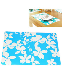 Wedding Blue Heat Proof Mat Coaster PP Household goods