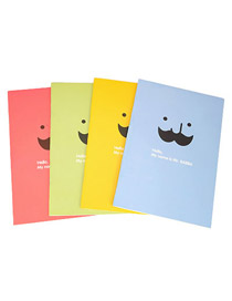 Milly Random Color Cartoon Soldier Pattern Simple Design Paper Notebook Agenda