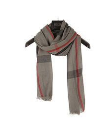 Couture Gray grid pattern cotton blends Fashion Scarves