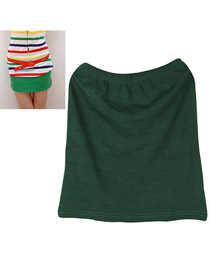 2011 Blackish Green Fit Sile A Shape Skirt Cotton Dress-Skirt