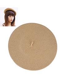 Splendid Apricot Flatcap Beret Imitation wool Beanies Others