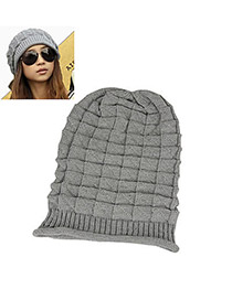 Fashion Gray Letter Patch Decorated Hat ( 2 Pcs)