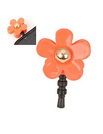 Mini orange Red Flower Design