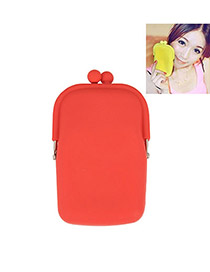 Fashion Red Color Matching Decorated Car Shape Design Wallet