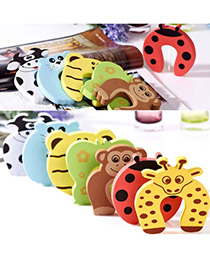 Fashion Green Double Round Shape Decorated Pure Color Child Safety Lock