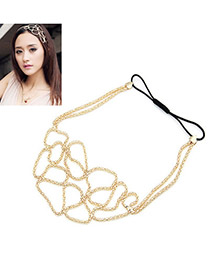 Elegant Silver Color Flower Shape Decorated Simple Pure Color Hair Clasp