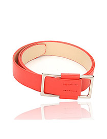 Traditiona Red thread slipping charm design pu Korean belts