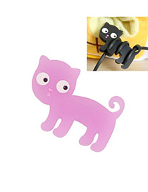 Letterhead Color will br random Cute cat rubber Mobile phone products