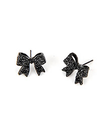 Trendy Black Multielement Pendant Decorated Simple Design Alloy Korean Earrings
