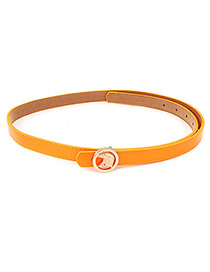 Golf Orange Owl PU Thin belts