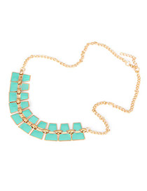 Best Blue Double Layer Pendant Alloy Korean Necklaces