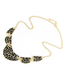 Double Leopard Leopard Pattern Alloy Korean Necklaces