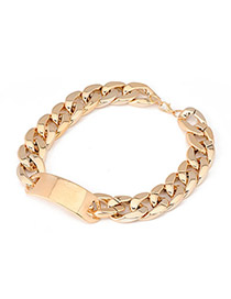 Beauteous Gold Color Simple Chain Alloy Korean Necklaces