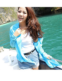 Fashion green Ox-head Pattern Decorated Batwing Sleeve Simple Bikini Cover Up Smock