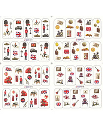 Stationary Picture Color Personality Design Paper Nails