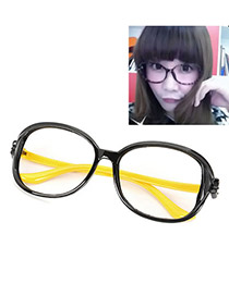Caspari With Yellow Frame Round Shape Candy Color Design Resin Sunglasses