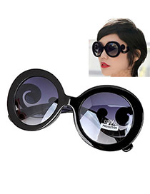 Fashion Black Heart Shape Decorated Simple Sunglasses