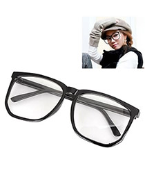 Uniqe With Leopard Frame Fashion Big Frame Charm Design Plastic Fashon Glasses