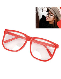 Gothic With Red Frame Fashion Big Frame Charm Design